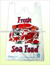 good price custom made PE PRINTED shopping t-shirt bag