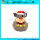 Christmas decoration Santa duck bath toy
