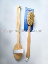 FSC long handle wooden bath massager brush