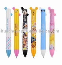 Lovely plastic bicolor pen