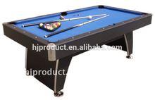 modern classic high quality 6ft 7ft black 8 ball pool table