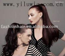 ponytail wig.natural drawstring ponytail