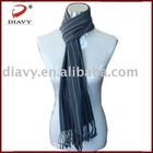 100%Mercerized wool stripe scarf for men
