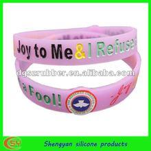 ion charm fashion energy silicone bracelet