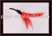rooster feather brush red