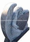 Blue Angel heart gravestone,angel heart memorial,angel heart monument