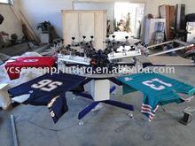 6 colors Precision great color-registration manual garment printer machine and screen printing equipment
