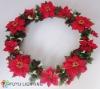 Decorative Rattan Christmas wreath light