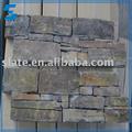 pizarra natural rústico de color exterior de piedra de revestimiento de la pared del azulejo