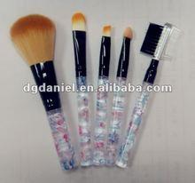 Goat hair Cosmetic tools makeup sets 5pcs Mini makeup brush set