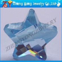 star shape gemstone/fancy gems/blue stone rough