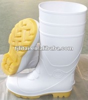 white pvc safety shoes with steel toe for food industry