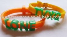 DIY beautiful TPR alphabetic bracelet,message bracelet,cheap bracelet