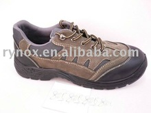 men leather jogger steel toe safety shoes(FW213)