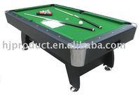 Hot Selling!!! Pool Billiards Table with Metal or Plastic Corner