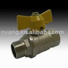 3 PC cw602n brass shutoff valve for water