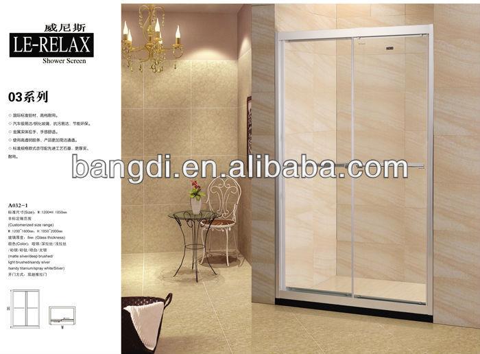 A032-1 sliding glass shower screen