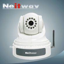 Wireless Mini IR CCD Pan/Tilt Half Dome IP Camera