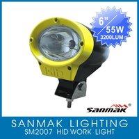 """6"""" 35W/55W ATV,moto,SUV,4X4 off road,truck HID working lamp driving spot light SM2007"""