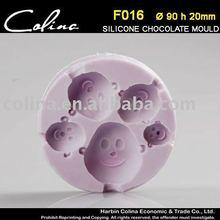 Mirakel Silicone Fondant mold,baby face chocolate sugar paste Mould,Cake Decorator
