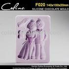 Wedding Couple Silicone Fondant mold, 3D chocolate sugar paste Mould,Cake Decorator