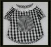 Black grid cute dog T-shirt, pet clothes supply