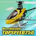 Hot!!! 3d 6ch 250 fibra de carbono rc com cnc cabeça do rotor principal e da cauda
