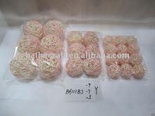 handicraft mix color rattan ball