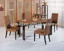 Rattan furniture sofa set leather chaise lounges