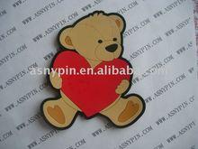 custom bear design pvc fridge magnet, magnet sticker