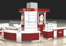 cosmetic store display ; acrylic cake display shelf
