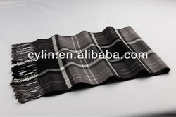 Fashionable Viscose Checked Mens Scarf