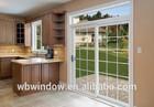 Exterior glass door, PVC Slide Door with Grills Design for patio