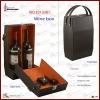 two bottles cardboard wine carrier