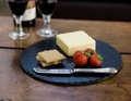Prato oval servindo prato para a mesa, ardósia placemat