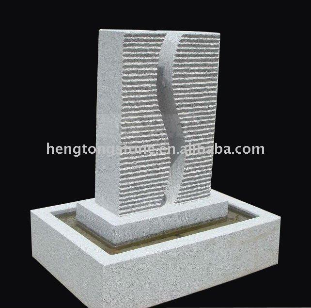 Moderna fuente de agua granito productos de piedra para - Fuentes modernas para jardin ...
