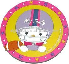 2014 new design promotional plastic PVC cup pad coaster