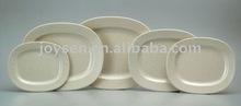 ivory white bamboo melamine plates