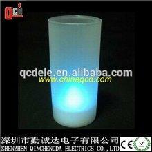 blue light tealight with plastic holder