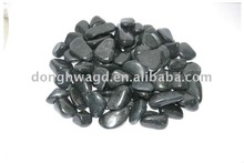 polished black cobble and pebbles