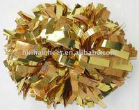 metallic pom pom: gold mix holo gold