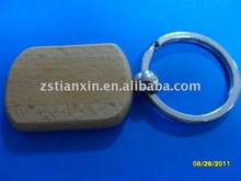 cheap promotional wood key ring / engraving key holder