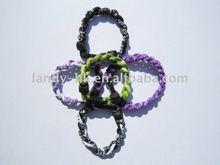 """Pas cher Triple tresse puissance énergie Titanium sport Bracelet 6.5 """""""