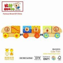 Hexin Top Now Wooden Block Train Toys