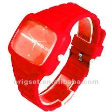 fresh new design silicon quartz watch unisex exchange strap