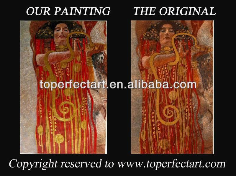 La main de l'artiste klimt peinture à l'huile sur toile