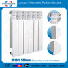 alibaba China die casting aluminum radiator for central heating 500mm
