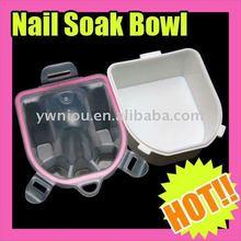 Double-deck Nail Hand Finger Clean Wash Soak Bowl Manicure SPA Salon Tool Gift