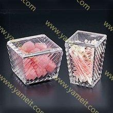 Aacrylic cotton ball swab box