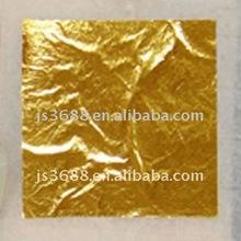 Caliente de la venta 98% oro fino flojo de la hoja dorado 24 k oro de la hoja de papel